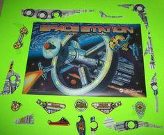 Williams SPACE STATION 1987 NOS Pinball Machine Translite Plastic Set Keychain #WilliamsSpaceStation
