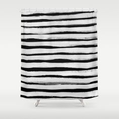 Black and White Stripes II Shower Curtain $68 society6