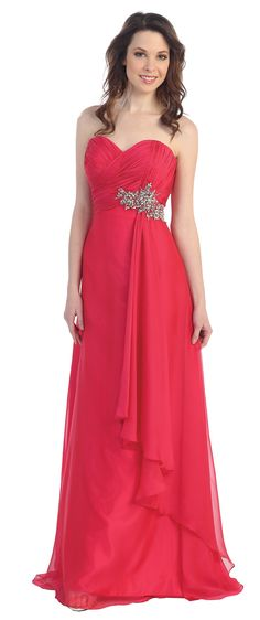 Cindy 1307 Prom Dress in Watermelon, Lilac, Royal-Blue, Ivory