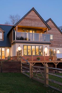 House Ideas - This beautiful designedself-build by Potton Self-Build Specialists David and Lesley's build was featured on Channel 4 My Flat Pack Mansion in # architecture Country House Design, Modern House Design, Self Build Houses, Timber Cladding, Dream House Exterior, House Exteriors, Timber Frame Homes, Construction, House Goals