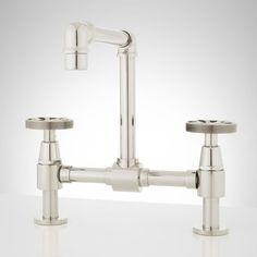 Exceptionnel Signature Hardware 929279 NO Edison 1.0 GPM Bridge Bathroom Faucet With  Pop Up D