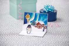 Inspiration for Northern Lights printables free cardmaking tutorial. Make your own Christmas cards! #craft