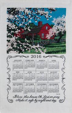 2016 Bless This House Linen Calendar Towel