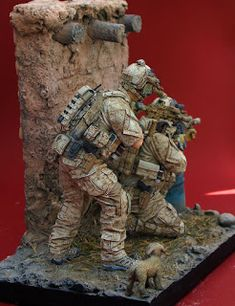 DEVGRU operators from Airborne Miniatures Military Action Figures, Custom Action Figures, Gi Joe, How To Paint Camo, Special Ops, Special Forces, Military Modelling, Military Diorama, Military Gear