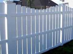 Husker Vinyl Courtyard Version of Semi-Privacy Fencing - White Color Page...like for the back yard!
