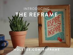 The Reframe - A frame for your cards.  This is the Kickstart campaign.