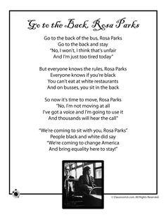 Kids Poems for Black History Month Kids Poem, Rosa Parks - Black History Month – Classroom Jr.