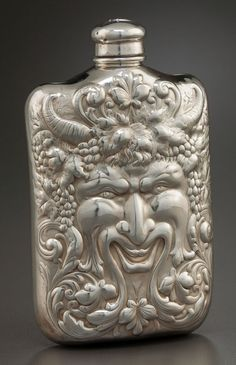Tiffany & Co. sterling silver flask depicting Bacchus, c1900 (Heritage Auctions)