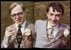 Gilbert and George, George the Cunt and Gilbert the Shit, 1969, 2 photographs, colour, on paper on printed paper