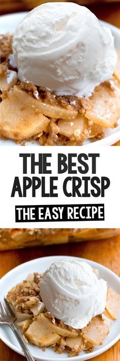 How To Make Apple Crisp At Home Homemade Apple Crisp, Vegan Apple Crisp, Best Apple Crisp, Apple Crisp Recipes, Vegan Oatmeal, Easy Baking Recipes, Healthy Baking, Cooking Recipes, Ww Desserts