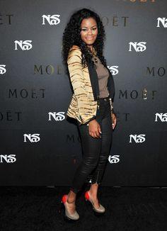 Teyana Taylor at Nas Album Release Party