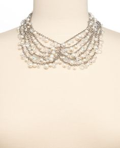 Chain Pearlized Statement Necklace