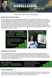 Get news about the weird and bizarre on Coast to Coast AM from radio host George Noory every night! Unexplained Disappearances, Ancient Astronaut Theory, Coast To Coast Am, Ancient Mysteries, Do You Believe, Ancient Aliens, Alternative Health, Paranormal, Ufo