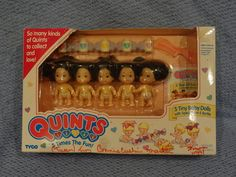 Vintage Tyco Quints Dolls - I had these brunette babies when I was little