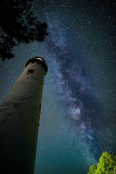 Pure Michigan - Good evening from the Point Iroquois Lighthouse near Brimley. On clear nights, you can see the millions of stars that make up the Milky Way.