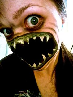 Best Scary Terrifying Terrifying Face Paint Art Hd