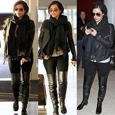 dress like kim kardashion | KIM Kardashian Over-the-Knee Flat Boots