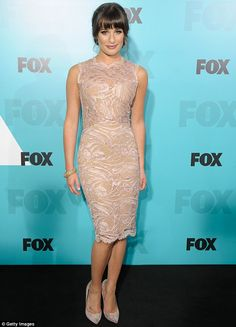 Lea Michele at the Fox Upfronts