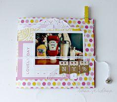 Rosa Verdosa. Mini álbum. scrapbook. pink. NY