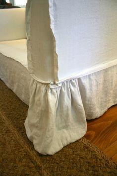 slipcover detail - ruffled corners