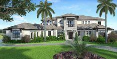 Spacious Contemporary Florida House Plan - 86025BW | Architectural Designs - House Plans