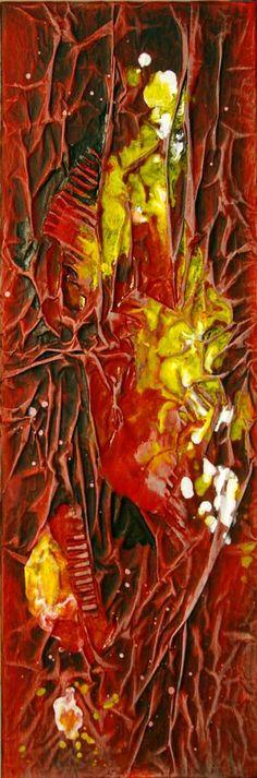 "Saatchi Art Artist Ysa Casse; Painting, ""Rouge III"" #art"