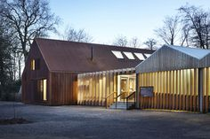 Burd Haward Architects, Jack Hobhouse · Mottisfont Visitor Centre