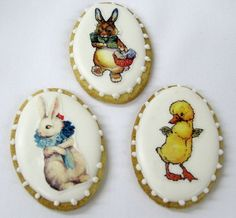 Vintage Easter Egg Cookies by BakeMePretty on Etsy, $30.00  From my Etsy Treasury, Hopping into Spring