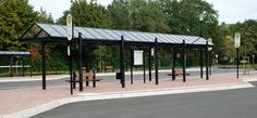 Busbahnhof Handrup, Überdachungen, Fahrradüberdachungen, Fahrgastüberdachungen, Buswartehalle, Wertstoffeinhausung, Stadtmobiliar, public design