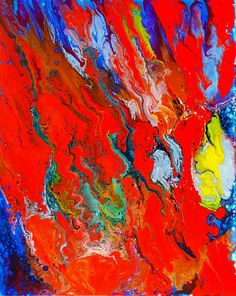 Abstract red painting.  red wall decor,  modern colorful paintings. Expressionist art,  abstract modern contemporary art on canvas - pinned by pin4etsy.com