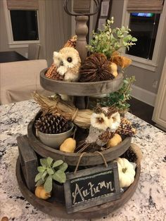 19 What Is So Fascinating About Three Tier Stand Decor 84 Fall Home Decor, Autumn Home, Thanksgiving Decorations, Seasonal Decor, Country Halloween, Autumn Decorating, Decorating Ideas, Decor Ideas, Noel Christmas