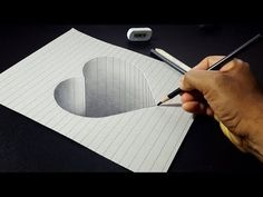 How to Draw 3D Stone Heart - Easy 3D Drawing for Kids - YouTube
