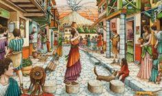 El trabajo que se realizaba en las ciudades era muy distinto que el realizado en el campo. Para los romanos, era normal dejar al comercio a cargo de clases sociales inferiores. Aunque le dejaban esta actividad a las clases sociales bajas, había mucha artesanía en las ciudades.