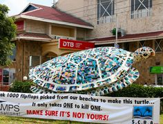 Flip-Flop Turtle Sculpture Draws Attention to Marine Debris Issue | Project AWARE