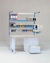 electronic lab Electronic Workbench, Tool Board, Kitchen Utensils, Ham Radio, Shop Ideas, Bed, Corner, Tools, Furniture