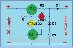 USB Battery Charger For Lithium Ion battery with the is a series of lithium ion battery charger. This charger circuit operates using power from the USB source PC. Battery Charger Circuit, Automatic Battery Charger, Simple Electronics, Hobby Electronics, Power Electronics, Electronic Circuit Projects, Electronic Schematics, Iphone Charger, Circuit Diagram