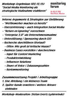 Strategie-Workshop beim 4. Monitoring Forum