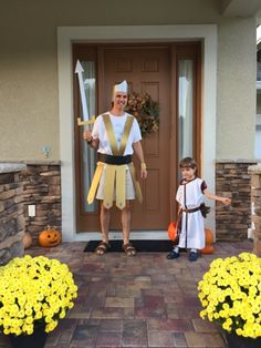 Grace and Grime: David and Goliath Costumes: Fun Father-Son Theme for Halloween