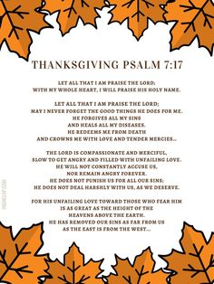 Psalm 7, Thanksgiving Prayer, Praise The Lords, Priorities, Prayers, Blessed, Delivery, Messages, Let It Be