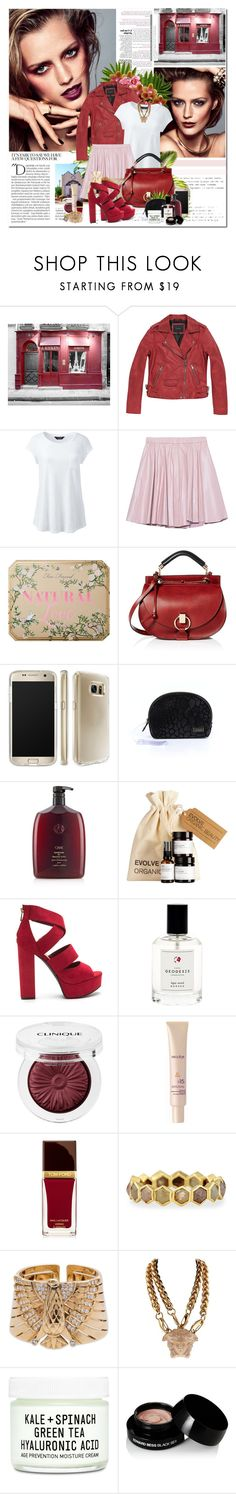 """IT'S FAIR TO SAY WE HAVE A FEW QUESTIONS FOR..."" by k-hearts-a ❤ liked on Polyvore featuring Balmain, Marc New York, Lands' End, 2NDDAY, Too Faced Cosmetics, Chloé, Speck, Stephanie Johnson, Oribe and Geodesis"