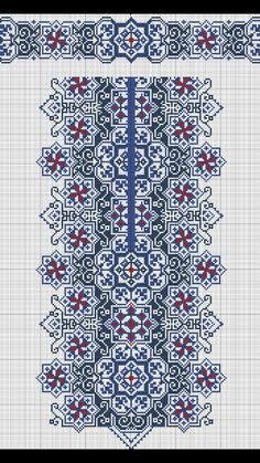 This Pin was discovered by Юли Cross Stitch Rose, Cross Stitch Borders, Cross Stitch Flowers, Cross Stitch Charts, Cross Stitch Designs, Cross Stitching, Folk Embroidery, Cross Stitch Embroidery, Embroidery Patterns