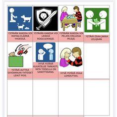 Toiminnalliset ystävä-kortit — KONKREETTISTA VARHAISKASVATUSTA Comics, Cartoons, Comic, Comics And Cartoons, Comic Books, Comic Book, Graphic Novels, Comic Art