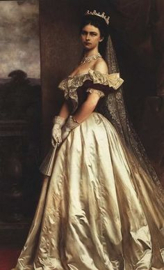 Elisabeth of Austria-Hungary in Hungarian court dress.