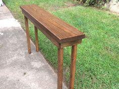 Rustic Sofa Table Extra Narrow Console Table Entryway Table Hallway Table  Foyer Table