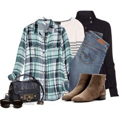 """""""plaid"""" by stacy-gustin on Polyvore"""