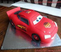 Lightning McQueen car tutorial