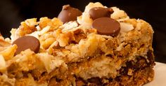 You can't go wrong with chocolate, coconut, and pecans, layered on a graham cracker crust!