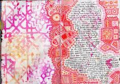 pink and orange housework - art journal inspiration.