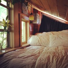 Window-Side Bed. I absolutely LOVE this, its so comforting and inspiring, I could easily live here