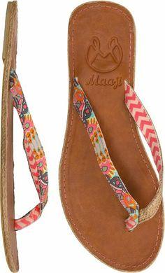 MAAJI CORAL CHEVRON FLIP FLOP > Womens > New Arrivals | Swell.com  LOOOOOOVVVVVEEEE!   Flip flop fashion